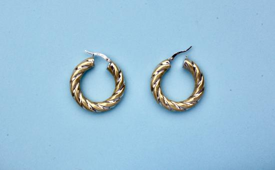 18CT GOLD CREOLE HOOP EARRINGS