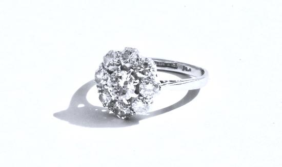 vintage best halo english on diamond white flower engagement marina daisy estate wedding ring images rings vintagejewelbox cocktail pinterest antique dinner reserved or cluster gold