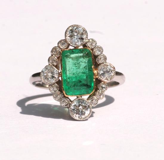 antique emerald and engagement ring eternity jewelry
