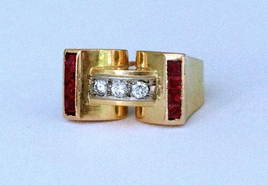 ART DECO FRENCH COCKTAIL RING