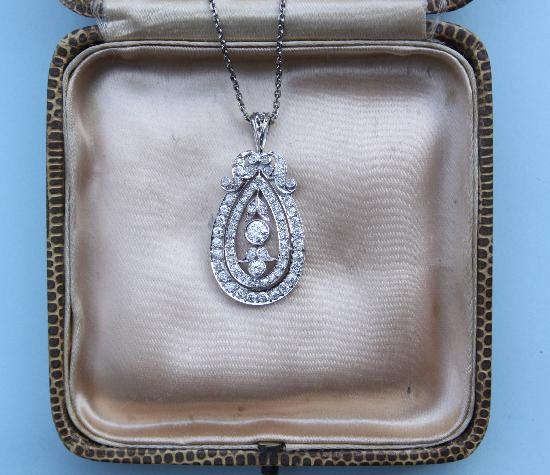 BEAUTIFUL EXQUISITE EDWARDIAN DIAMOND PENDANT