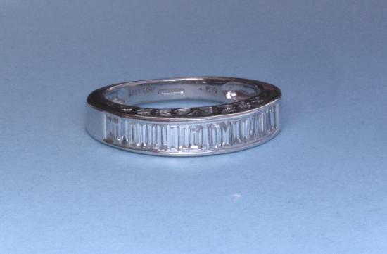 DIAMOND BAGUETTE HALF ETERNITY RING