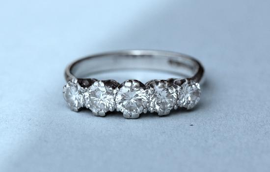 DIAMOND FIVE STONE ENGAGEMENT RING