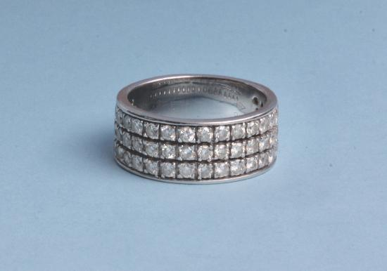 DIAMOND THREE ROW ETERNITY RING