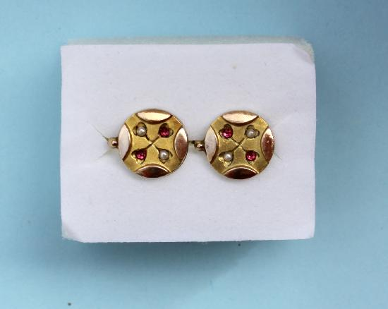 EDWARDIAN PRETTY GOLD EARRINGS