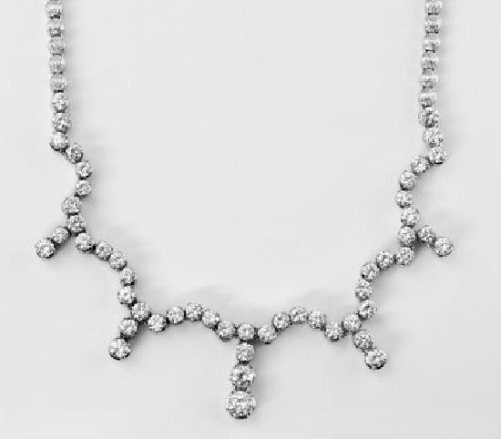 ELEGANT DIAMOND FESTOON NECKLACE VINTAGE