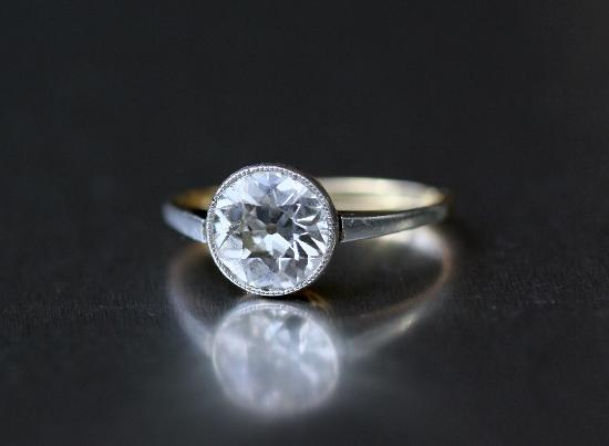 FABULOUS EDWARDIAN DIAMOND ENGAGEMENT RING 2ct