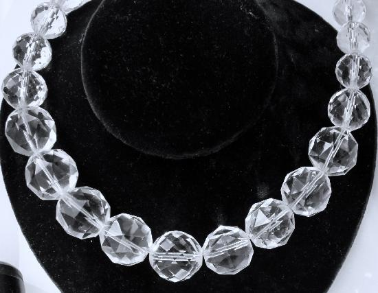 FABULOUS LARGE VINTAGE CRYSTAL NECKLACE