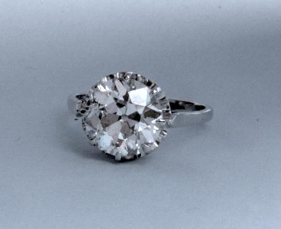 HUGE 5 50 CT FRENCH DIAMOND ENGAGEMENT RING
