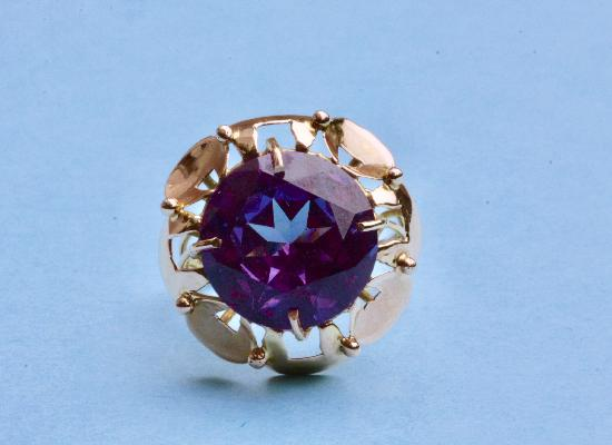 HUGE AMETHYST COCKTAIL RING.