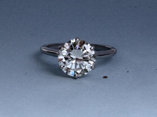 HUGE BRILLIANT CUT DIAMOND ENGAGEMENT RING.