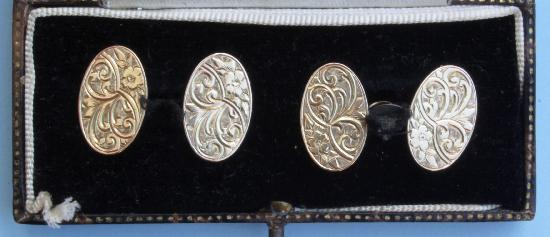 LOVELY EDWARDIAN MENS CUFF LINKS