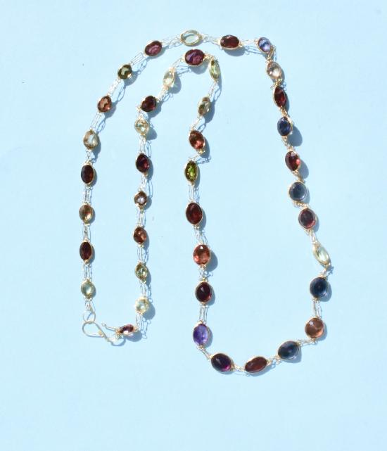 MULTI GEM STONE NECKLACE