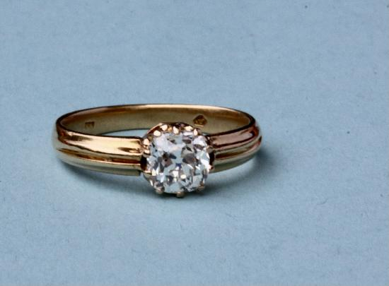 OLD CUSHION CUT DIAMOND SOLITAIRE