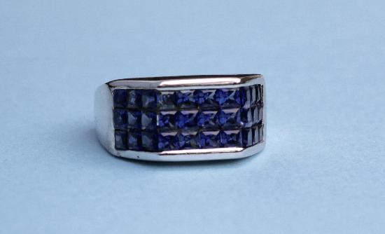 RETRO STYLISH SAPPHIRE COCKTAIL RING