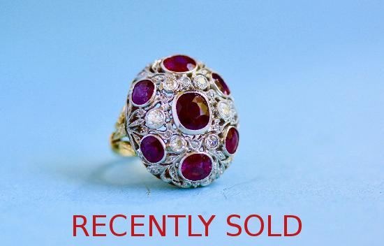 BELLE EPOQUE RUBY AND DIAMOND RING.