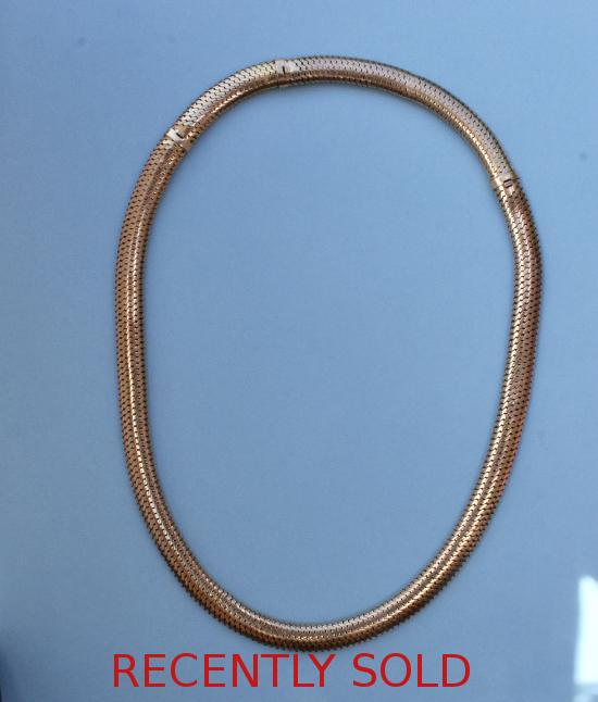 FRENCH GOLD CHOKER NECKLACE