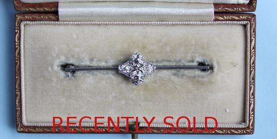 PRETTY EDWARDIAN DIAMOND BROOCH