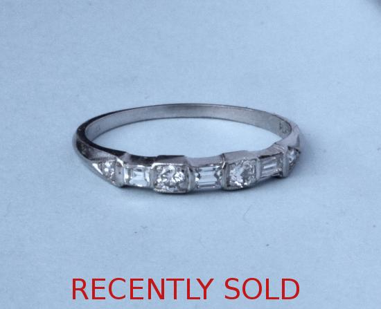 PRETTY PLATINUM  DIAMOND ETERNITY RING VINTAGE
