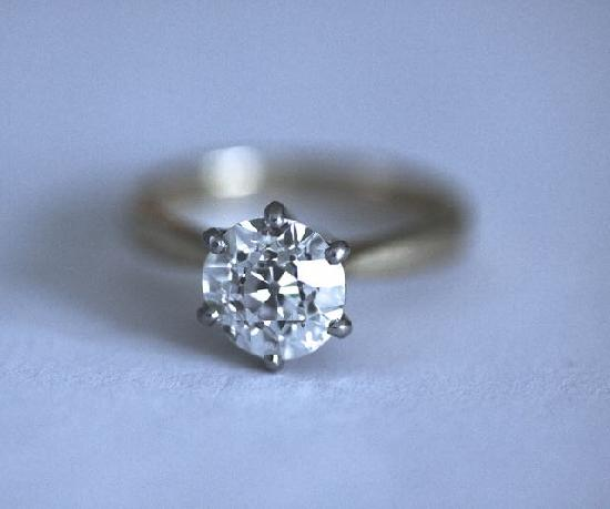 SUPERB  OLD CUT SOLITAIRE DIAMOD ENGAGEMENT RING 2.45ct