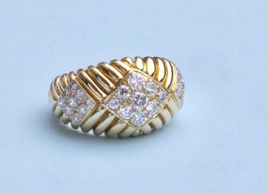 SUPERB FRENCH DIAMOND COCKTAIL RING