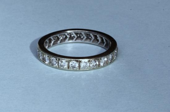 VINTAGE FULL DIAMOND ETERNITY RING
