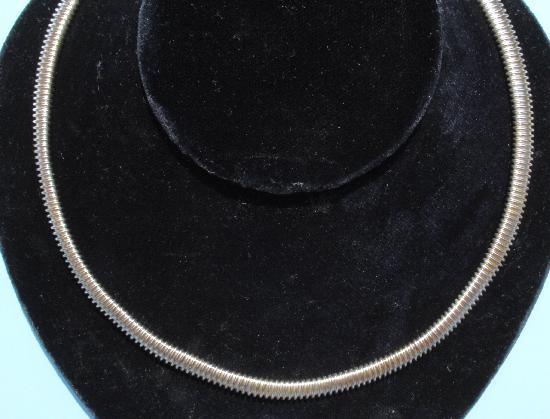 VINTAGE GAS PIPE CHOKER NECKLACE