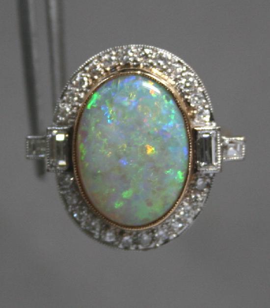 Opal Engagement Ring Vintage