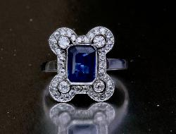 Belle Epoque Sapphire And Diamond Engagement Ring