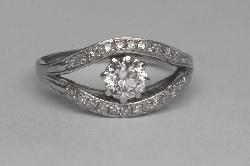 Diamond Engagement Ring.   Vintage