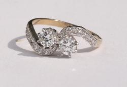 1920s Diamond Twist Engagement Ring