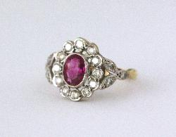 1920s Ruby And Diamond Engagement Ring