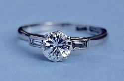 1ct Diamond Solitaire Engagement Ring