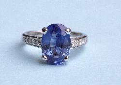 3ct Sapphire And Diamond Engagement Ring