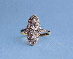 Antique Diamond Engagement Ring 1920s
