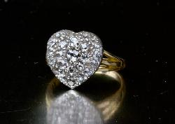 Antique Diamond Heart Engagement Ring