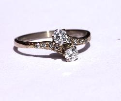 Antique Diamond Twist Engagement Ring