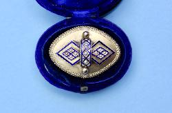 Antique Enamel Brooch