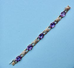 Antique Period Amethyst Bracelet