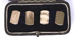 Art Deco Gold Cufflinks