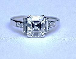 Asscher Cut Fine Quality Diamond Engagement Ring