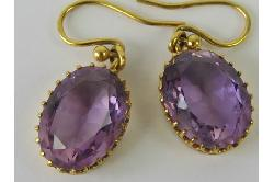 Beautiful Amethyst Drop Earrings