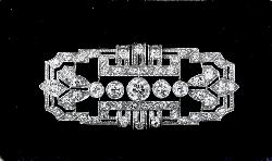 Beautiful Art Deco Diamond Plaque Brooch