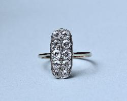 Beautiful Art Deco Diamond Plaque Engagement Ring