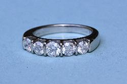 Beautiful Diamond Five Stone Engagement Ring