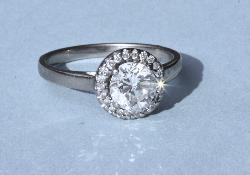 Beautiful Halo Diamond Engagement Ring