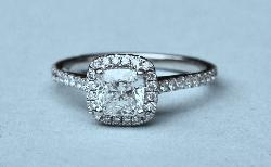 Certificated Diamond Halo Engagement Ring