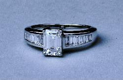 Certificated Quality Emerald-cut Diamond Engagement Ring