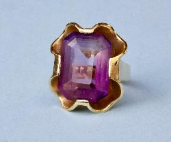 Continental Large Amethyst Cocktail Ring