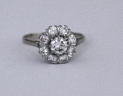 Daisy Diamond Cluster Engagement Ring
